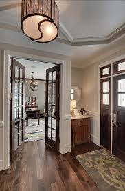 home office doors. trendy family home i love the contrast between white doors and stained with office l