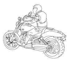 Harley Davidson Biker Coloring Page Welcome To Motorcycle Coloring