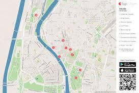 seville printable tourist map  sygic travel