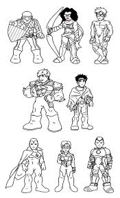 Small Picture Super Hero Squad Coloring Pages LineArt Super Hero Squad