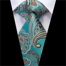 Wholesale Designer Ties Hi Tie Men Ties Green Silk Neck Tie Paisley Wedding Tie