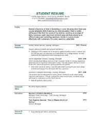 College Student Resume Examples Little Experience Fascinating Resumes For College Students With Little Experience