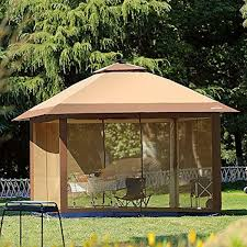 Pop Up Canopy With Lights Details About Gazebo Canopy Suntime Outdoor Pop Up With Mosquito Netting And Solar Led