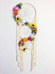 Dream Catchers With Quotes Large Dreamcatcher Floral Dreamcatcher Boho Chic Dreamcatcher 71