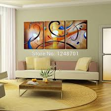 office wall paintings. Large Wall Art, 3 Piece Oil Painting, Modern Contemporary Art Office Paintings O