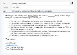 Email Template For Successful Online Job Applications Job Search
