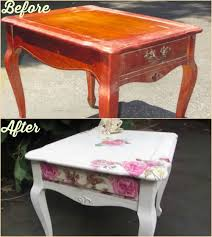 diy decoupage furniture. she cuts up napkins to transform a table the end result made me gasp diy decoupage furniture o