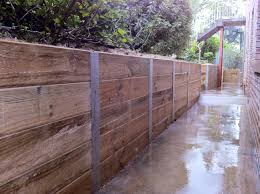 Timber Wood Retaining Wall Construction Farmhouse Design And