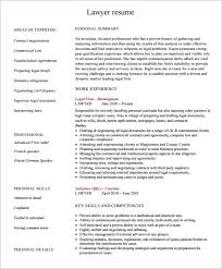 Free Lawyer Resume Templates In Pdf Psd Word