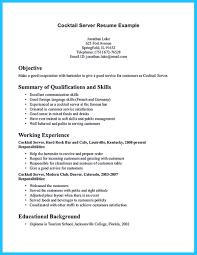 Bartender Resume Example Sample Restaurant Bartender Resume
