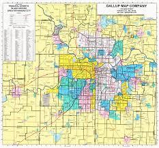 kansas city principal streets and zip codes map  gallup map