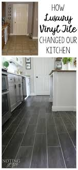 it took only 3 days and 400 to completely transform our kitchen with diy flooring groutable luxury vinyl tile