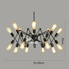 wrought iron chandeliers industrial chandelier light modern spider 1 with crystal accents