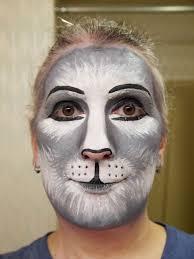 gray cat makeup practice 2