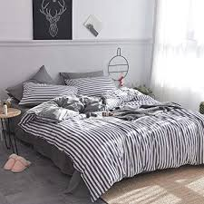 blue and white striped duvet cover. Fine White HMTOP Blue White Striped Duvet Cover Set 100 Cotton BeddingVertical  Stripes Pattern Throughout And T