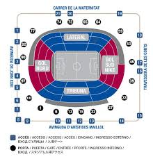 Camp Nou Stadium Seating Chart Football Host Fc Barelona Tickets Experiences At Camp