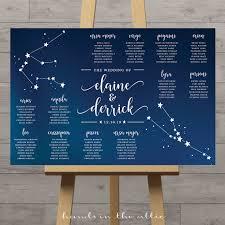 Constellation Wedding Seating Chart