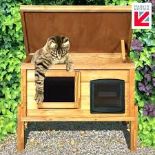 outdoor cat bed outdoor cat bed external self heating house kennel with one way privacy window outdoor cat bed