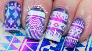Aztec Galaxy Nail Art Tutorial | Qtiny.com