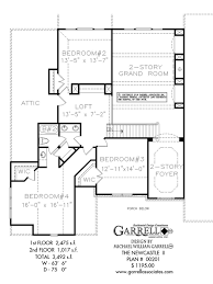 newcastle ii house plan house plans by garrell associates, inc 1 5 Story House Plans With Loft newcastle ll house plan 00201, 2nd floor plan 1.5 Story House Plans with 3 Car Garage