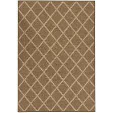 allen roth natural lattice beige rectangular machine made area rug common 8