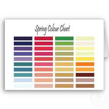 Die Spring Color Chart Spring Color Chart Zazzle Com Spring Colors Spring