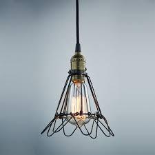 kiven vintage style pendant wire cage light 1 light hanging lamp edison light fixtures