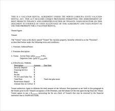 Standard Rental Agreement Template 8 Sample Vacation Rental Agreements Pdf Word