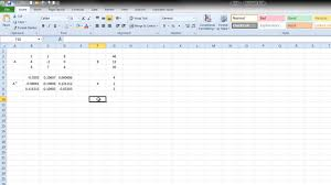 how to solve linear equation through excel
