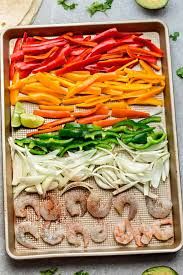 sheet pan shrimp fajitas sheet pan shrimp fajitas one pan meal prep lunch bowls