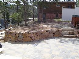 Small Picture Retaining Walls Colorado Springs Natural Stone Walls