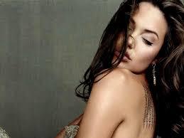 обои анджелина джоли Angelina Jolie локоны плечо тату фото для