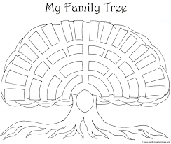 Drawing A Family Tree Template Big Oak Family Tree Template As A Coloring Page For Kids And