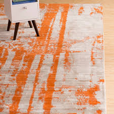 interior orange area rug contemporary ovid reviews birch lane regarding 13 from orange area rug