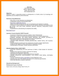 11 Resume For Phlebotomy Mla Cover Page