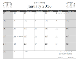 free printable 2015 monthly calendar with holidays best photos of 2016 calendar template plain 2016 monthly calendar