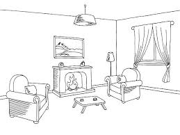 living room clipart black and white. pin drawing clipart living room #6 black and white c