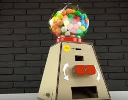 How To Make A Cardboard Vending Machine Amazing Tina's Handicraft DIY Gumball Candy Machine Money Operated From