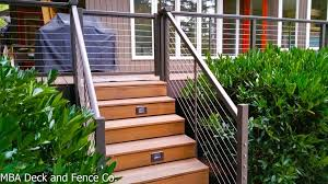 steel cable railing. New Railing Transforms A Older Cedar Deck Steel Cable I