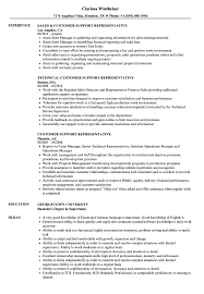 Customer Support Representative Resume Samples Velvet Jobs
