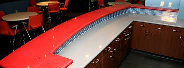 stellar fire bar top over kensho countertop with full bullnose edge profile