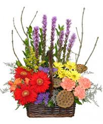 out of the woods flower basket