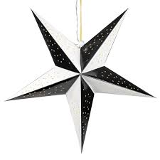 Papierstern 3d 10 Led Schwarz Weiß Weihnachtsstern Faltstern