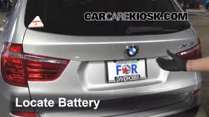 battery replacement 2011 2016 bmw x3 2013 bmw x3 xdrive28i 2 0l bmw x3 relay location at 2005 Bmw X3 Fuse Box Location