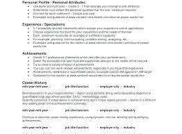 Personal Attributes Resume Examples Resume Bullet Points Sample