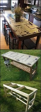 repurpose old furniture. Kitchen Island From An Old Door Repurpose Furniture T