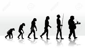 人間の進化および食習慣のイラスト