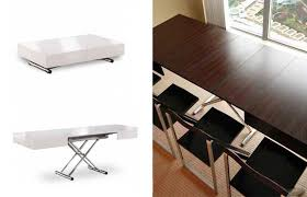 folding furniture for small spaces. Coffee-table-to-dining Folding Furniture For Small Spaces
