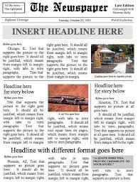 Front Page Newspaper Template Ms Word Document Etsy