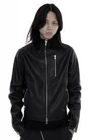 xperimnt back zip leather jacket